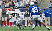 Foxborough, Massachusetts - May 28, 2018: NCAA Division I tournament final. Yale University (white) defeated Duke University (blue/white), 13-11, at Gillette Stadium.