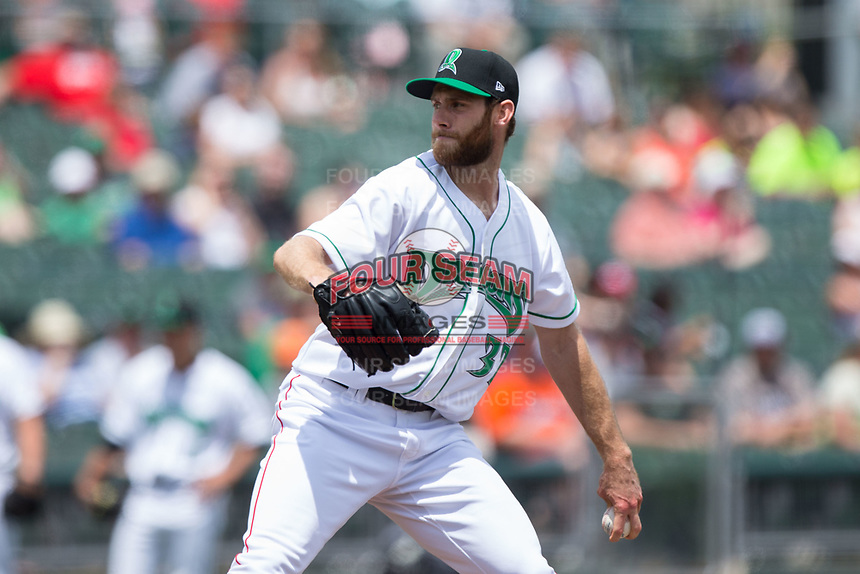 Cincinnati Reds pitcher Tony Cingrani (32) makes a rehab start for the Dayton Dragons against the West Michigan Whitecaps at Fifth Third Field on May 29, 2017 in Dayton, Ohio.  (Brian Westerholt/Four Seam Images)