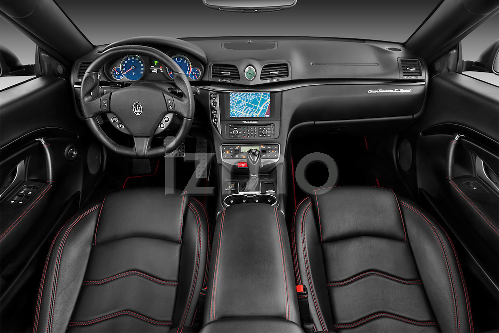 Dashboard of a 2014 Maserati GranCabrio Sport Convertible