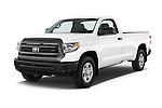 2015 Toyota Tundra 5.7 Auto SR Regular Cab 2 Door Truck Angular Front stock photos of front three quarter view