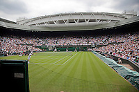 21-06-10, Tennis, England, Wimbledon, Overall vieuw Centercourt