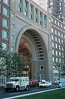 Boston:  Rowes Wharf--Atlantic Street side and entrance.  Photo '88.