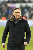 Swansea manager Carlos Carvalhal walks on the pitch during the Premier League match between Swansea City and West Ham United at The Liberty Stadium, Swansea, Wales, UK. Saturday 03 March 2018
