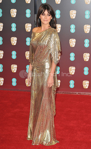 Penelope Cruz at the EE British Academy Film Awards (BAFTAs) 2017, Royal Albert Hall, Kensington Gore, London, England, UK, on Sunday 12 February 2017.<br /> CAP/CAN<br /> &copy;CAN/Capital Pictures /MediaPunch ***NORTH AND SOUTH AMERICAS ONLY***