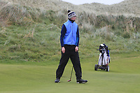Sean Doyle (Black Bush) on the 12th green during Round 2 of the Ulster Boys Championship at Portrush Golf Club, Portrush, Co. Antrim on the Valley course on Wednesday 31st Oct 2018.<br /> Picture:  Thos Caffrey / www.golffile.ie<br /> <br /> All photo usage must carry mandatory copyright credit (&copy; Golffile | Thos Caffrey)
