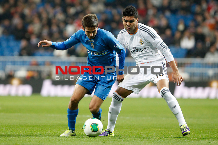 Real Madrid¬¥s Casemiro during a Copa del Rey soccer match between Real Madrid and Olimpic de Xativa at Santiago Bernabeu Stadium in Madrid. December 18, 2013. Foto © nordphoto / Caro Marin) *** Local Caption ***