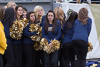 The Pitt dance team huddles together in the cold weather. The Pitt Panthers defeat the Rutgers Scarlet Knights 27-6 on Saturday, November 24, 2012 at Heinz Field , Pittsburgh, PA.