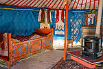 Oryginalna tatarska jurta wraz z wyposażeniem - wnętrze, Kruszyniany, Polska<br /> Original Tartar yurt along with the equipment - inside, Kruszyniany, Poland