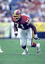 Washington Redskins Charles Mann(71) in action during a game Los Angeles Rams at Anaheim Stadium in Anaheim , California on November 21, 1993.The Rams beat the Redskins 10-6. Charles Mann played for 12 years  with 2 different teams and was a 4-time Pro Bowler.David Durochik/SportPics