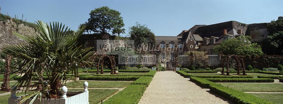 Europe/France/Pays de la Loire/49/Maine et Loire /Angers: le Château jardins et Logis du gouverneur