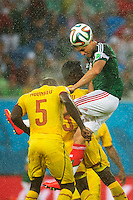 JAVIER HERNANDEZ Messico, DANY Nounkeu Camerun <br /> Natal (Brasile) 13-06-2014 Estadio Das Dunas. Group A Mexico - Cameroon / Messico - Camerun 1-0 . Football 2014 Fifa World Cup Brazil - Campionato del Mondo di Calcio  Brasile 2014 <br /> Foto Fotoarena/Panoramic/Insidefoto