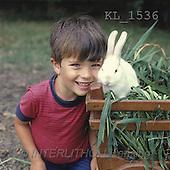 Interlitho, CHILDREN, photos, boy, white rabbit(KL1536,#K#) Kinder, niños