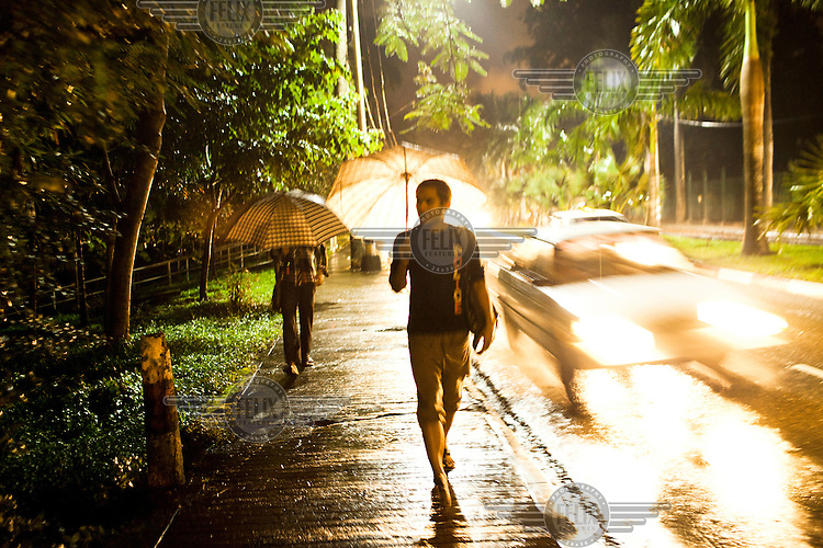 Kyaw Myo Thu, a peer educator, looks for homoseuxals at night in Yangon to teach about them safe sex and distribute free condoms, as part of an education program run by MDM (Medecins du Monde).