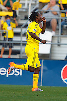 24 OCTOBER 2010:  Columbus Crew forward Andres Mendoza (10) celebrates his goal during MLS soccer game against the Philadelphia Union at Crew Stadium in Columbus, Ohio on August 28, 2010.