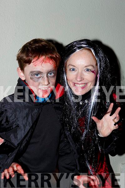 Charlie and Charolette Keane at the Knocknagoshel Halloween Festival on Sunday night