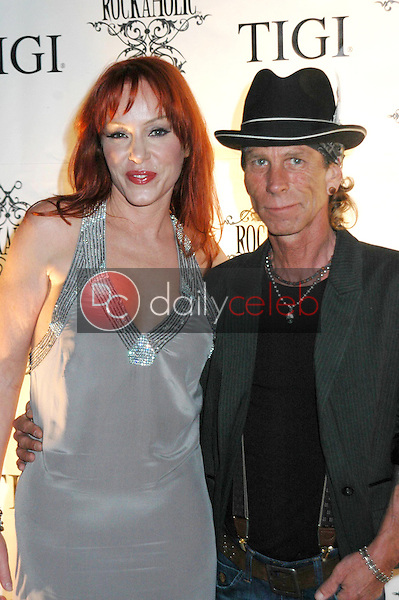 Jenny McShane and MT Robison<br />at the Rockaholic Release Party. V20 the Venue, Long Beach, CA. 02-01-09<br />Dave Edwards/DailyCeleb.com 818-249-4998