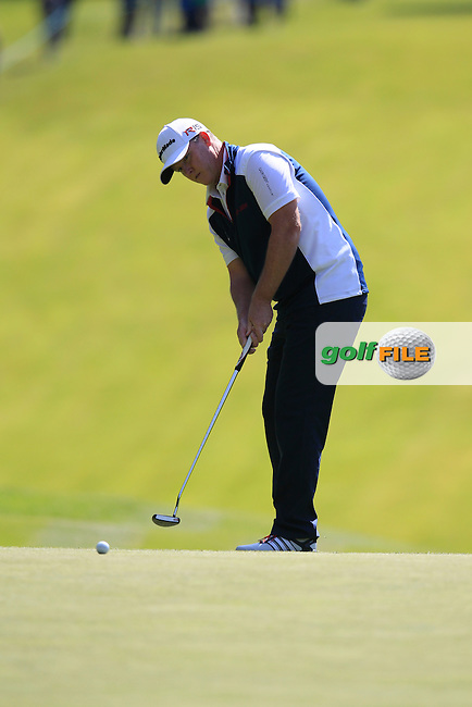 Marcus FRASER (AUS) during round 1 of the 2015 BMW PGA Championship over the West Course at Wentworth, Virgina Water, London. 21/05/2015<br /> Picture Fran Caffrey, www.golffile.ie: