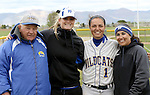 Melanie Mecham with coaches at the Sophomore Day celebration after the first game of the Western Nevada College softball doubleheader on Saturday, April 30, 2016 at Pete Livermore Sports Complex. Photo by Shannon Litz/Nevada Photo Source
