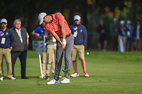 Rory McIlroy (NIR) hits his approach shot on 18 during round 4 of the World Golf Championships, Mexico, Club De Golf Chapultepec, Mexico City, Mexico. 2/24/2019.<br /> Picture: Golffile | Ken Murray<br /> <br /> <br /> All photo usage must carry mandatory copyright credit (© Golffile | Ken Murray)