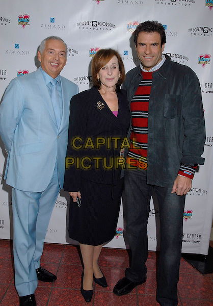 """HENRI ZIMAND, MARCIA SMITH & JERRY PENACOLI.The Screen Actors Guild Foundation and Zimand Entertainment host prize-winning ceremony for Los Angeles Children's """"Love Equals"""" writing contest held at the Beverly Center, 8th Floor Food Court, ,Los Angeles, USA, 14 February 2007..full length.CAP/ADM/GB.©Gary Boas/AdMedia/Capital Pictures."""