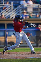 Mahoning Valley Scrappers shortstop Willi Castro (2) at bat during the second game of a doubleheader against the Batavia Muckdogs on July 2, 2015 at Dwyer Stadium in Batavia, New York.  Mahoning Valley defeated Batavia 3-0.  (Mike Janes/Four Seam Images)