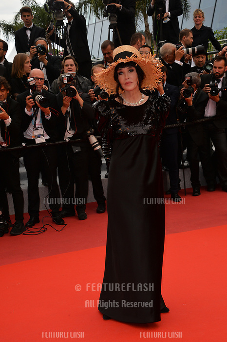 """CANNES, FRANCE. May 20, 2019: Isabelle Adjani  at the gala premiere for """"La Belle Epoque"""" at the Festival de Cannes.<br /> Picture: Paul Smith / Featureflash"""