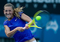 Viktoria Azarenka (BLR) against Serbine Lisicki (GER) in the first round of the Ladies Singles. Azarenka beat Lisicki 3-6 6-2 7-5..International Tennis - Medibank International Sydney - MON 11 Jan 2010 - Sydney Olympic Park  Tennis Centre- Sydney - Australia ..© Frey - AMN Images, 1st Floor, Barry House, 20-22 Worple Road, London, SW19 4DH.Tel - +44 20 8947 0100.mfrey@advantagemedianet.com
