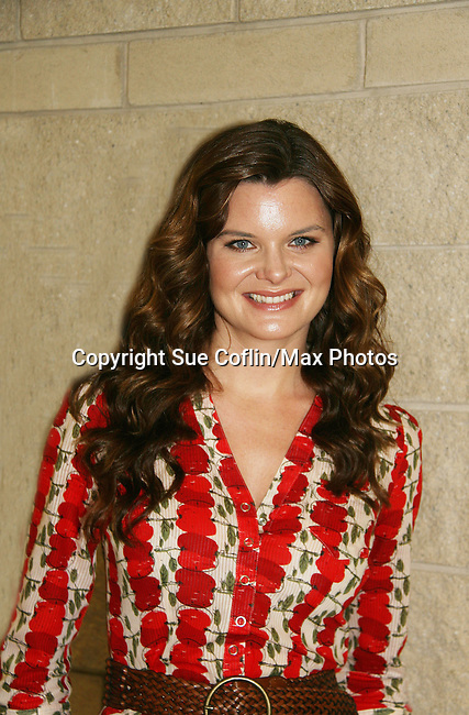 Bold and the Beautiful's Heather Tom is a part of Soapstar Spectacular presented by KDKA-TV stars Y&R, BB, GL and ATWT on June 13, 2010 at the Petersen Events Center, University of Pittsburgh, PA and benefited the Susan G. Komen for the Cure Pittsburgh Affiliate. (Photo by Sue Coflin/Max Photos)