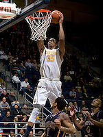 Richard Solomon of California prepares to dunk the ball during the game against Coppin State at Haas Pavilion in Berkeley, California on November 8th, 2013.    California defeated Coppin State, 83-64.