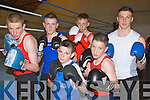 GOLDEN GLOVES: Member's of the Cashen Vale boxing club, Ballybunion competing in the Tralee Boxing club tournament at Tralee army barracks on Saturday front l-r: Michael Jones and Killian Walsh. Back l-r: Maurice Falvey, Micheal Ahern, Stephen Reidy and Brian Wall...