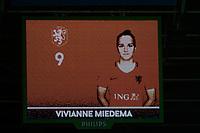 GRONINGEN -  Voetbal, Nederland - Noorwegen, Noordlease stadion, WK kwalificatie vrouwen, 24-10-2017,    1-0 door Nederland speelster Vivianne Miedema