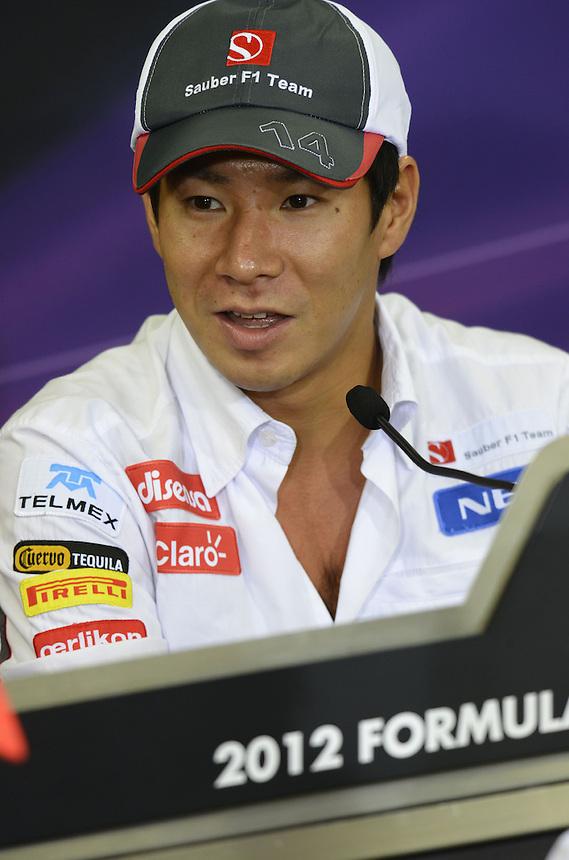 .Kamui Kobayashi (JPN), Sauber F1 Team..2012 FIA Formula One World Championship - Japanese Grand Prix - Suzuka Circuit - Suzuka - Japan - Thursday 4th October 2012...