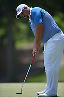 Bethesda, MD - June 28, 2014: Brendon de Jonge putts on the 6th hole in Round 3 of the Quicken Loans National at the Congressional Country Club in Bethesda, MD, June 28, 2014.  (Photo by Don Baxter/Media Images International)