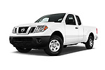 Stock pictures of low aggressive front three quarter view of 2018 Nissan Frontier S-King-Cab 4 Door Pickup Low Aggressive