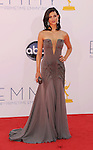 LOS ANGELES, CA - SEPTEMBER 23: Morena Baccarin arrives at the 64th Primetime Emmy Awards at Nokia Theatre L.A. Live on September 23, 2012 in Los Angeles, California.
