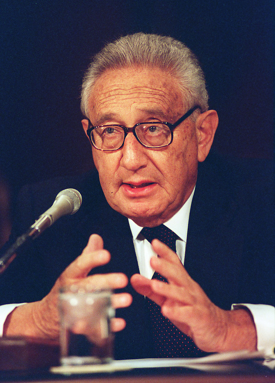 10/30/97.SENATE FOREIGN RELATIONS:Henry Kissinger,former secretary of state testifies during the hearing on NATO-Russia relations..CONGRESSIONAL QUARTERLY PHOTO BY DOUGLAS GRAHAM