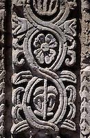 Amérique/Amérique du Sud/Pérou/Arequipa : La Compania (Ancien sanctuaire de la Compagnie de Jésus) - Le cloître (XVIII°) détail sculpture