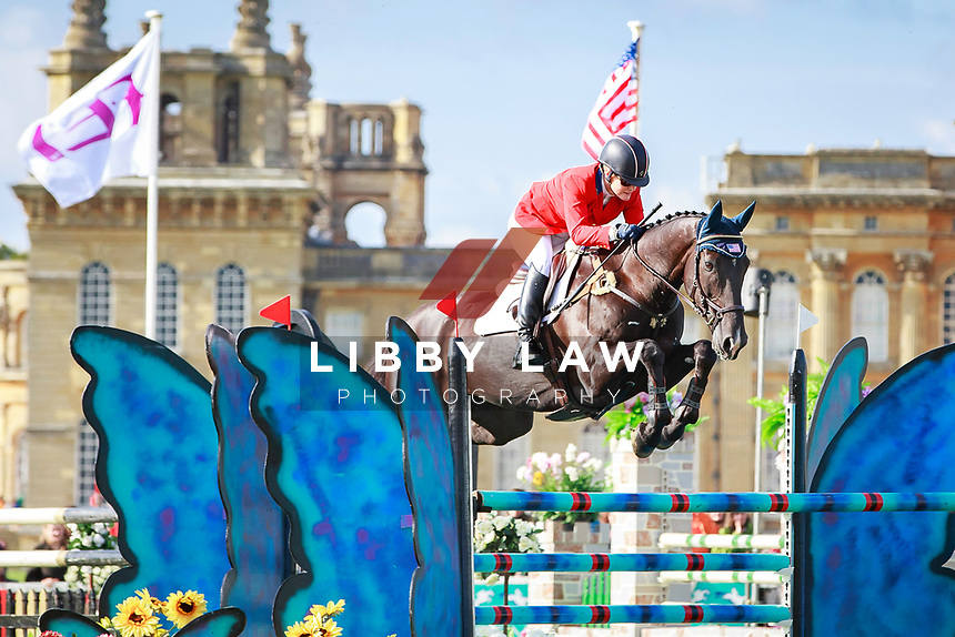 USA-Kimberly Severson rides Cooley Cross Border during the CCI3* Showjumping. Final-1st. 2017 GBR-SsangYong Blenheim Palace International Horse Trial. Sunday 17 September. Copyright Photo: Libby Law Photography
