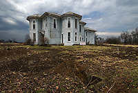 The Italianate house, built c. 1870 in Alexandria, Ohio, for Union soldier and abolitionist Joseph Scott, was scheduled for demolition for a divided four-lane highway until a grassroots group came up with enough money to move it.