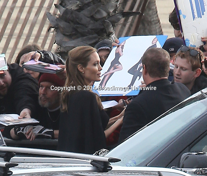 Pictured: Brad Pitt and Angelina Jolie<br /> Mandatory Credit &copy; Fernando Allende/Adriano Camolese/Broadimage<br /> Brad Pitt and Angelina Jolie signing authographs at the 2014 Independent Spirit Awards<br /> <br /> 3/1/14, Santa Monica, California, United States of America<br /> Reference: 030114_FALA_BDG_026<br /> <br /> Broadimage Newswire<br /> Los Angeles 1+  (310) 301-1027<br /> New York      1+  (646) 827-9134<br /> sales@broadimage.com<br /> http://www.broadimage.com