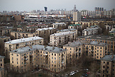 Soviet apartment blocks  are seen at Presnya district in Moscow.  / Abrisspläne in Moskau 2017 für über 1 Million Menschen, Demolition plans in Moscow for over 1 Million people