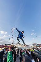 The blanket toss is enjoyed by all during Nalukataq in Utqiagvik (Barrow) Alaska in Alaska's Arctic.