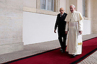 20131114 Papa Francesco in visita al Quirinale