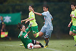 (L to R) <br /> Mio Nemoto (JEF Ladies), <br /> Mina Tanaka (Beleza), <br /> SEPTEMBER 17, 2017 - Football / Soccer : <br /> 2017 Plenus Nadeshiko League Division 1 match <br /> between JEF United Ichihara Chiba Ladies 0-1 NTV Beleza <br /> at Frontier Soccer Field in Chiba, Japan. <br /> (Photo by AFLO SPORT)