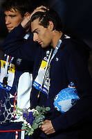 Camille Lacourt France Gold Medal 50m Backstroke Men <br /> Swimming - Nuoto <br /> Barcellona 4/8/2013 Palau St Jordi <br /> Barcelona 2013 15 Fina World Championships Aquatics <br /> Foto Andrea Staccioli Insidefoto