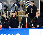 Neal Ratto (BC - Manager), Chris Malloy (BC - Manager), Samson Lee (BC - Video Coordinator), Tom Maguire (BC - Manager) - The Boston College Eagles defeated the University of Minnesota Duluth Bulldogs 4-0 to win the NCAA Northeast Regional on Sunday, March 25, 2012, at the DCU Center in Worcester, Massachusetts.