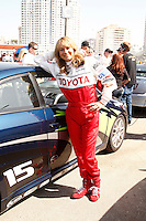 LOS ANGELES - APR 5: Megyn Price at the 35th annual Toyota Pro/Celebrity Race Press Practice Day on April 5, 2011 in Long Beach, California