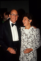 Montreal (Qc) CANADA - File Photo (betwenn 1991 and 1995)- Charles Bronfman, Seagram's co-Chairman.and his wife<br /> <br /> Charles Rosner Bronfman, PC, CC (born June 27, 1931 in Montreal) is a Canadian businessman and philanthropist.<br /> <br /> He is the son of Samuel and Saidye Bronfman; his siblings are Minda, architecture expert Phyllis, and Edgar. He is the uncle of Edgar Bronfman, Jr.. Charles Bronfman is the widower of his second wife, Andrea Bronfman.
