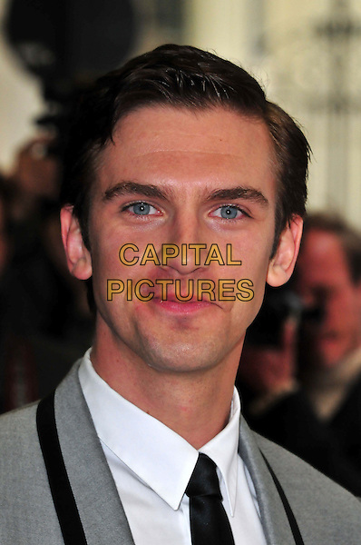 Dan Stevens<br /> The &quot;Summer In February&quot; VIP gala film screening, Curzon Mayfair cinema,  London, England.<br /> June 10th, 2013<br /> headshot portrait white shirt black tie grey gray suit<br /> CAP/BF<br /> &copy;Bob Fidgeon/Capital Pictures