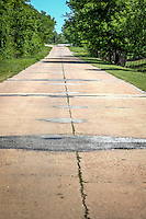 Old allignment of Route 66 in Foyl Oklahoma.